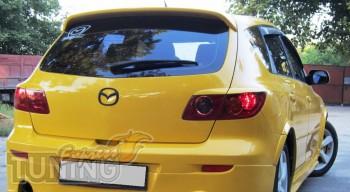 Установка задних декоративных ресничек Mazda 3 hatchback