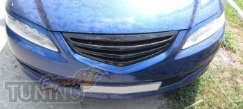 Купить реснички пластиковые на фары Мазда 6 седан (фото ExpressT