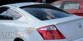 Установка спойлера на стекло Honda Accord coupe с 2008 года выпу