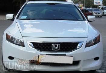 Накладки на фары Honda Accord USA Coupe (установка)