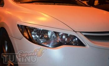 Реснички накладки на фары Хонда Сивик 4д (ExpressTuning)