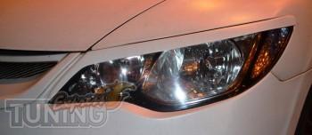 Тюнинг реснички на фары Honda Civic 4d (магазин ExpressTuning)