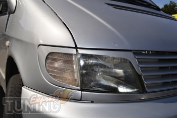 Реснички на фары Mercedes Vito 638 (накладки фар Мерседес Вито 6