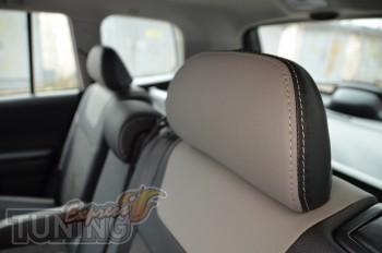 Автомобильные чехлы в авто Тойота Хайлендер 2 (чехлы Toyota High