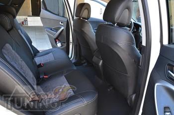 чехлы в слаон Хендай Санта Фе 3 (чехлы Hyundai Santa Fe 3)