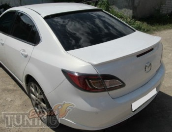 Купить задний спойлер на багажник Mazda 6 GH (фото с установки)