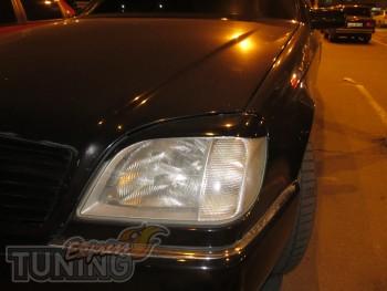 Купить реснички Мерседес W140 купе (накладки фар на Mercedes W14
