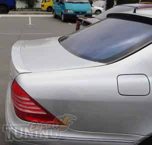 Спойлер на багажник Mercedes W220 (лип спойлер Мерседес W220)