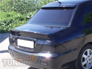 Пластиковый лип спойлер на Mitsubishi Lancer 9 седан (тюнинг маг