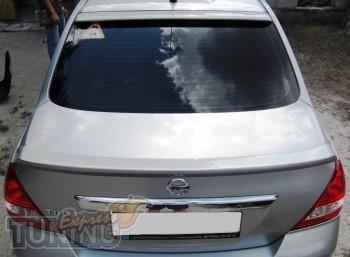 Задний спойлер-накладка на Nissan Tiida седан (фото, ExpressTuni
