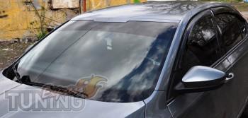 Тюнинг накладка на лобовое стекло Шкода Октавия А7 (фото)