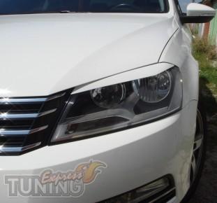 Купить передние реснички на фары Volkswagen Passat B7 2010+