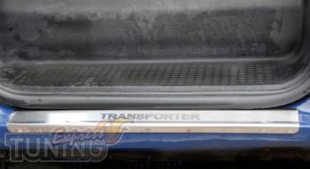 Накладки на пороги Фольксваген Транспортер Т4 (защитные накладки