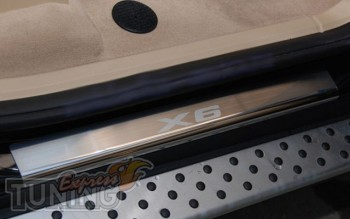 Накладки на пороги БМВ Х6 E71 в магазине expresstuning (защитные