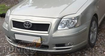Накладки на передние фары Toyota Avensis 2 (реснички фар Тойота