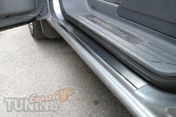 Накладки на пороги для авто Мерседес Вито 639 (защитные накладки