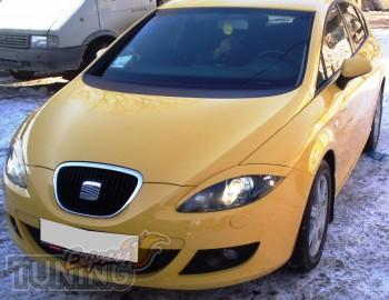 Заказать пластиковые реснички на фары Seat Leon 2 (Киев, Express