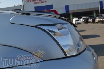 Тюнинг реснички на передние фары Toyota Land Cruiser Prado 120 ф