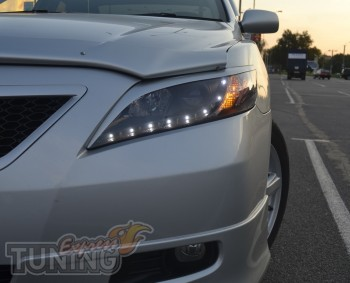 Тюнинг передней оптики Тойота Камри 40 (накладки на фары Camry 4