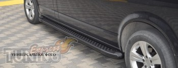 купить Алюминиевые пороги Mitsubishi Outlander XL 2010 (пороги М