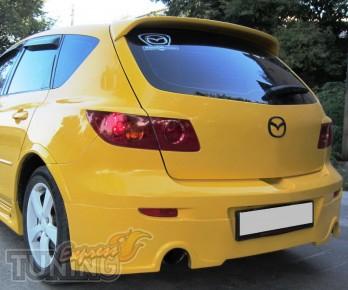 Оригинальный спойлер задней двери Mazda 3 hatchback (фото Expres