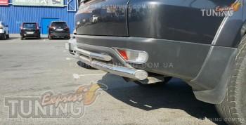 Защита заднего бампера Mitsubishi Pajero Sport 2 (двойная силова