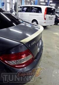 Тюнинг спойлер сабля на багажник Мерседес С203 (магазин ExpressT