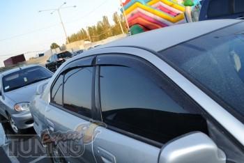 Ветровики Митсубиси Галант 8 (дефлекторы окон Mitsubishi Galant