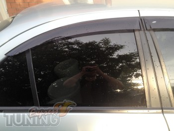 Ветровики для Nissan Almera 2 N16(дефлекторы окон )