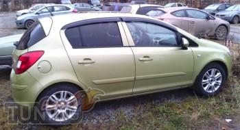 Ветровики Опель Корса Д (дефлекторы окон Opel Corsa D)