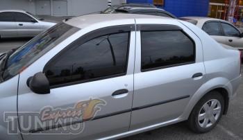 Ветровики Рено Логан 1 (дефлекторы окон Renault Logan 1)
