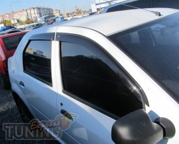 заказать Ветровики Рено Логан 1 (дефлекторы окон Renault Logan 1