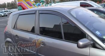 заказать Ветровики Renault Scenic 2 (дефлекторы окон )