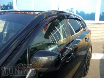 Ветровики Субару XV (дефлекторы окон Subaru XV)