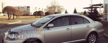 Ветровики Тойота Авенсис 2 (дефлекторы окон Toyota Avensis 2 T25