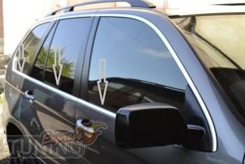 Хромированные молдинги стекол bmw X5 E53 (хром окантовка окон бм