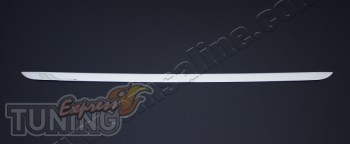 Хромированная кромка крышки багажника Ситроен С4 2 (хром молдинг