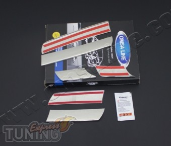 Хром накладки на радиаторную решетку Renault Logan 1 (комплект х