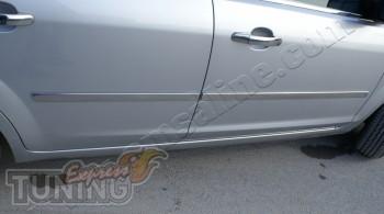 Купить хром накладки на боковые двери Ford C-Max 1 (хром молдинг