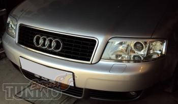Накладки на фары Audi A6 C5 (реснички)