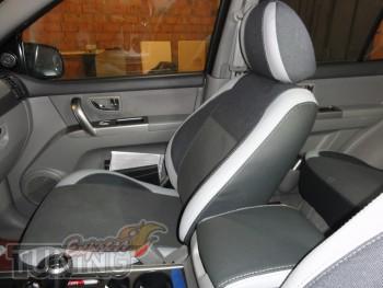 Чехлы в салон Киа Соренто 1 (заказать авточехлы на сиденья Kia S