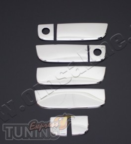 Хромированные накладки на боковые ручки Киа Соул (хром пакет на