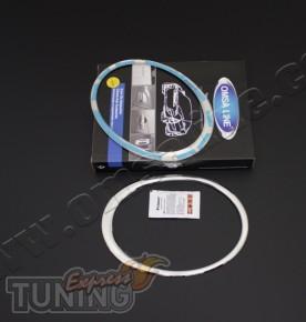 Хром окантовка на передние фары Nissan Juke (хром накладки на фа