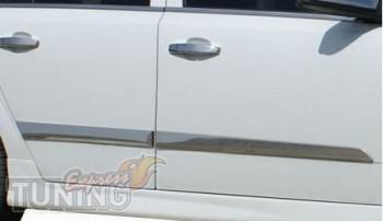 Хромированные молдинги на двери Opel AStra H (хром молдинги двер