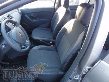 Чехлы в салон Рено Логан 2 (авточехлы на сиденья Renault Logan 2