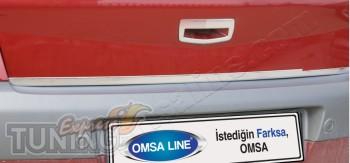 Купить хром кант крышки багажника Рено Меган 2 (установка хромир