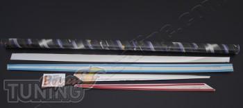 Хромированные накладки на дверные молдинги Renault Megane 3 (хро