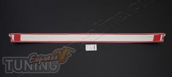 Оригинальная хром накладка на площадку бампера Рено Трафик 2 (за