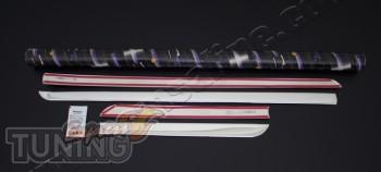 Купить хром накладки на дверные молдинги Seat ibiza 4 (фото хром