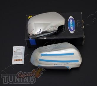 Оригинальные хром накладки на зеркала Skoda Octavia A4 (хром пак